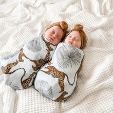 Load image into Gallery viewer, babies-asleep-swaddled-wearing-turbans