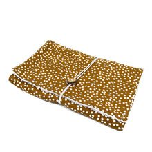Load image into Gallery viewer, mustard-spots-handmade-nappy-change-mat-with-coconut-button