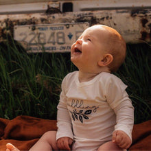 Load image into Gallery viewer, baby-boy-sitting-outside-laughing