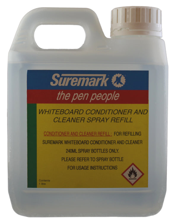 Refill for suremark whiteboard conditioner and cleaner sprays