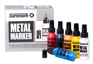 Suremark metal markers - writes on rusty, greasy surfaces