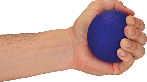 NOVA Hand Exercise Round Ball, Hand Grip Squeeze Ball for Strength, Stress and Recovery, Comes in 2 Resistance Levels