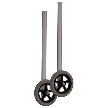 5 inch wheels with Extra Tall Shaft for 1 inch Folding Walker - 1 Pair/Pair - 427SI