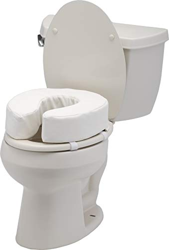 Toilet Seat Cushion and Riser, Padded Toilet Seat Attachment Cover
