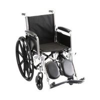 Nova Medical Wheelchair- 16IN. with Detachable ARMS Full ARMS & Elevating LEGREST