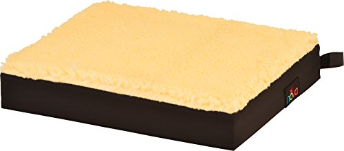 "NOVA Sheep Skin Top - Coccyx Gel & Memory Foam Seat & Wheelchair Cushion, Thick Fleece Everyday Seat Cushion with Removable Cover, 3"" Thick Gel Memory Foam Seat Pad with Attachment Straps"