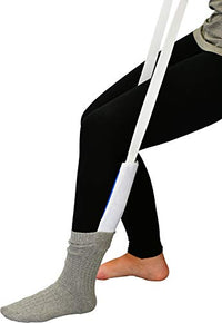 NOVA Sock & Stocking Aid, Soft Terry Cloth & Flexible, Easy to Use with Pull Up Straps