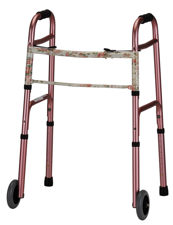 Folding Walker With 5 Inch Wheels