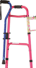 Cane Holder for Rollator and Folding Walker