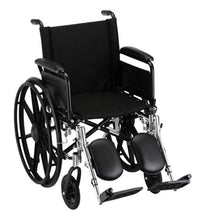 "Nova MedicalProducts Healthcare 18"" Lightweight Wheelchair with Full Arms and Elevating Leg Rests"