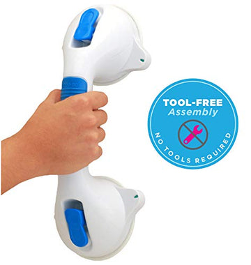 "Suction Grab Bar, Easy On and Off 12"" Length"