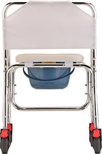 Lightweight Rolling Shower Commode Chair with Locking Wheels
