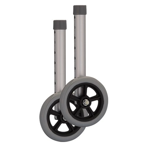 5 inch wheels for 1 inch Folding Walker - Gray Small - 1 Pair/Pair - 410YSI