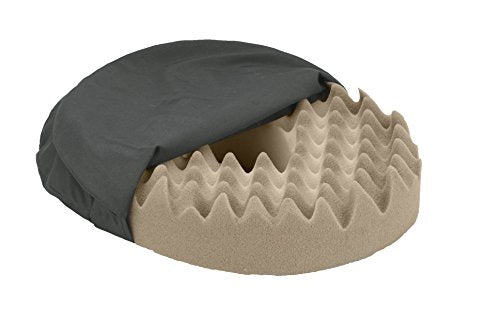 NOVA Donut Pillow Seat Cushion with Convoluted ?Egg Crate? Foam, Travel Ring Cushion, Removable & Washable Black Cover