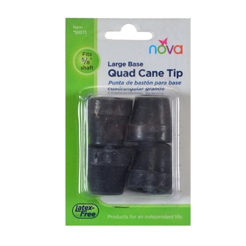 Tips for Large Quad Cane - Grey - 4 Each/Each - 50015GR