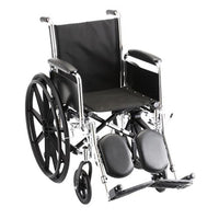 "Steel Standard Wheelchair Front Rigging: Elevating Leg Rests, Arm Type: Detachable Full Arms, Seat Size: 21"" W"