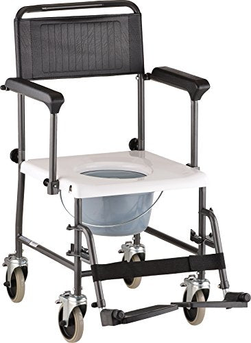 Drop-Arm Transport Chair Commode (8805)