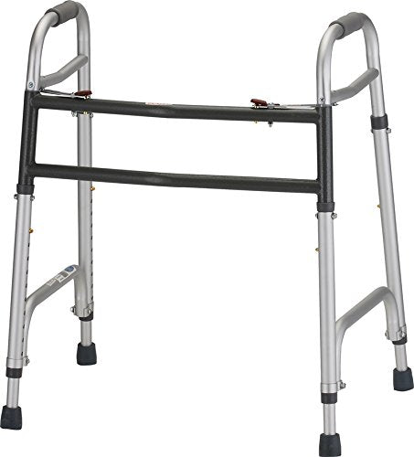 Heavy Duty Folding Walker - with 5 inch wheels - 1 Each/Each - 4095DW5