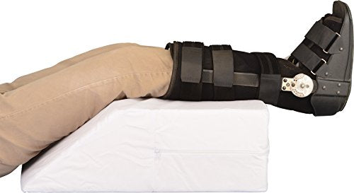 "NOVA Elevating Leg Pillow, Recovery Support Wedge for Foot, Ankle, Leg, Hips and Back, Choose from 6"" or 8"" Height, Removable and Washable Cover"