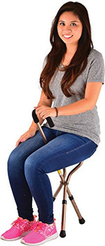 Folding Seat Cane, Lightweight & Adjustable