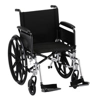 "GO! Mobility Lightweight Wheelchair Seat Size: 20"" W, Arm Type: Full Arms, Front Rigging: Footrests"