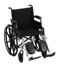 "NOVA 18"" Lightweight Wheelchair w/Desk Arms & Elevating Leg Rest"