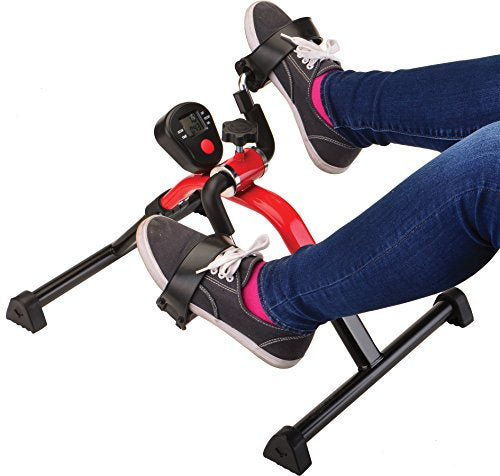 NOVA Pedal Exerciser with Digital Display Tracker, Foldable Hand and Foot Cycle Exerciser, Great for Home, Office or Travel