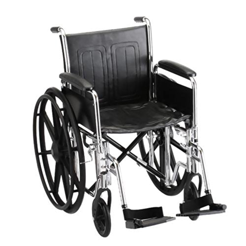 "Steel Standard Wheelchair Seat Size: 19"" W, Arm Type: Detachable Full Arms, Front Rigging: Swing Away Footrests"