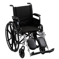 "GO! Mobility Lightweight Wheelchair Front Rigging: Elevating Leg Rests, Seat Size: 16"" W, Arm Type: Desk Arms"