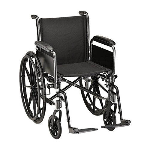 "Nova Medical 16"" Wheelchair with Detachable Full Arms and Swingaway Footrest - 5161S"
