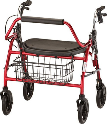 Mighty Mack Heavy Duty Rollator Walker 500 lb Weight Capacity