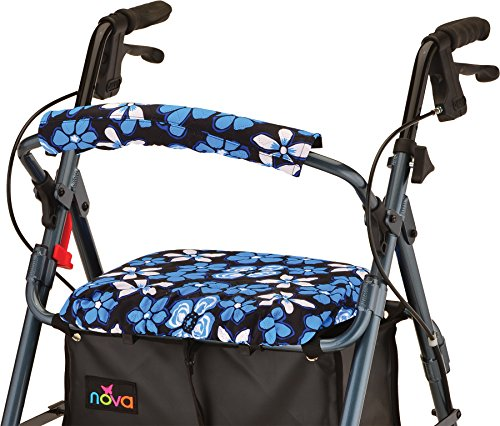 NOVA Rollator Walker Seat & Back Cover, Removable and Washable, Faux Fur