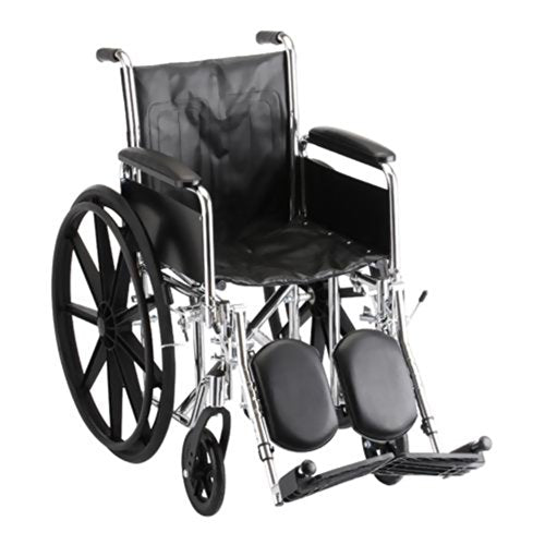 "Steel Standard Wheelchair Seat Size: 16"" W, Front Rigging: Elevating Leg Rests, Arm Type: Full Arms"