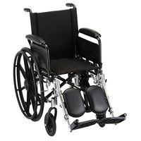 "Nova MedicalProducts Healthcare 16"" Lightweight Wheelchair with Full Arms and Elevating Leg Rests"