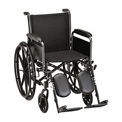 HAMMERTONE WHEELCHAIR- 18 INCH WITH DETACHABLE ARMS FULL ARMS & ELEVATING LEGREST