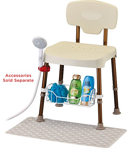 Bariatric Shower and Bath Chair with Back, Heavy Duty 500 lb. Weight Capacity