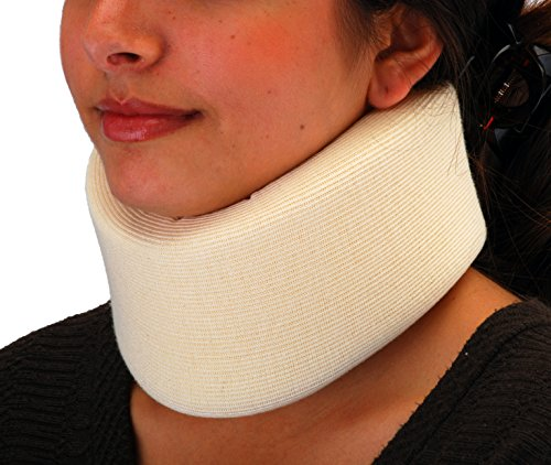NOVA Neck Brace, Foam Cushion Cervical Collar, Soft & Breathable Removable Cover, Easy to Adjust and Secure, Comes in 3 Neck Height Sizes