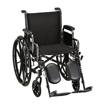 "16"" Steel Wheelchair with Detachable Arms & Elevating Leg Rests - 1 Each/Each - 5160SE"