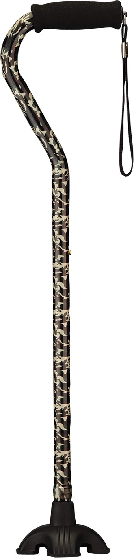 SugarCane, Walking Cane with Quad Tip & Carrying Strap