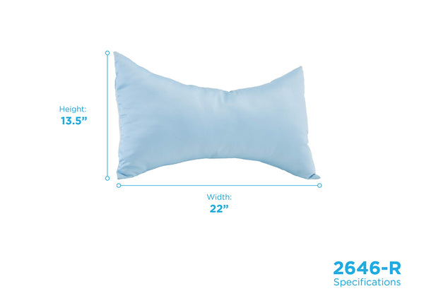 NOVA Curve Neck Pillow, Butterfly Shaped Head & Neck Pillow, Travel Pillow with Removable Light Blue Satin Cover