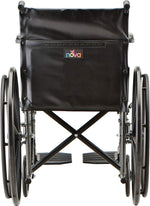 NOVA Steel Wheelchair with Fixed Arms & Footrests