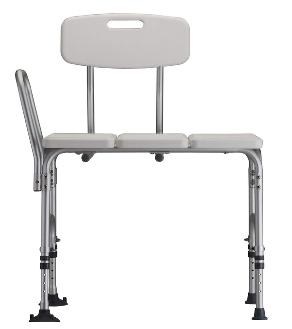 NOVA Heavy Duty Tub Transfer Bench for Bath or Shower with 500 lb. Weight Capacity, Backrest is Removable and Reversible