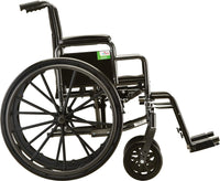 NOVA Steel Wheelchair w/Detachable Desk Arms & Swing Away Footrests