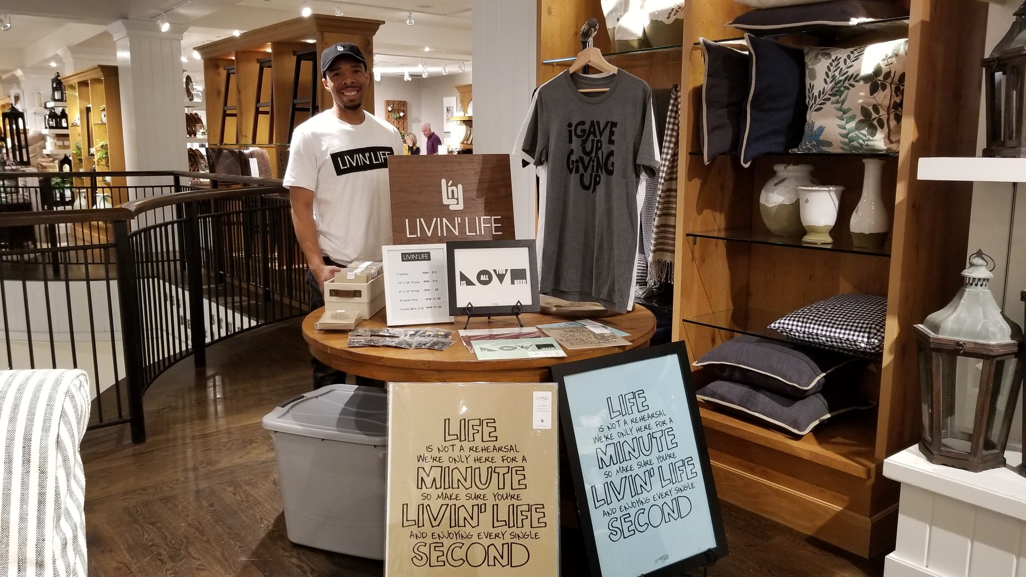 LIVIN' LIFE Pottery Barn Lenox Square Mall Pop-up Shop