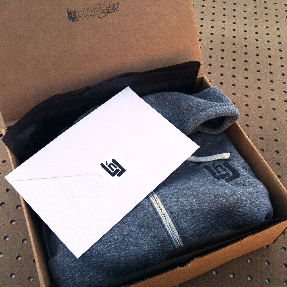 LNL Full-zip Hoodie (Grey) Packaging