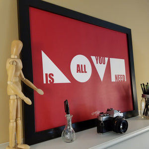 """Love Is All You Need"" Print (Cardinal)"