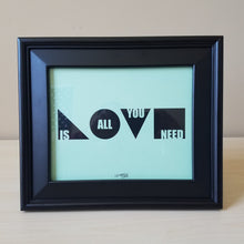 Love Is All You Need Art Print (Mint)