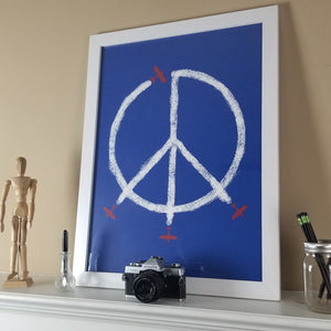 """World Peace"" Print (Blue)"
