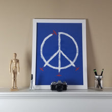 "Load image into Gallery viewer, ""World Peace"" Print (Blue)"