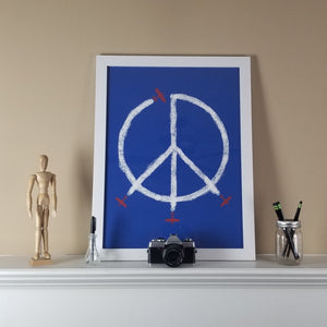 World Peace Print (Blue)